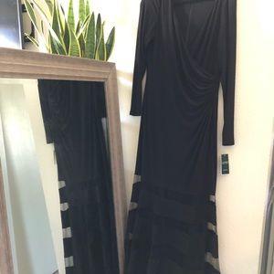 Ralph Lauren long sleeve Long maxi Evening dress